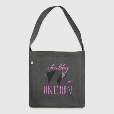 Chubby unicorn - Shoulder Bag made from recycled material