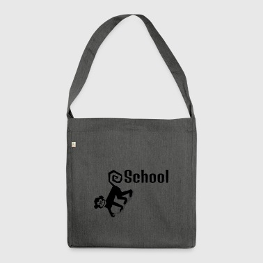 schule - Schultertasche aus Recycling-Material
