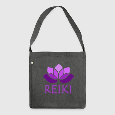 Reiki reiki purple - Shoulder Bag made from recycled material