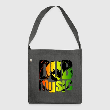 Dub music - Shoulder Bag made from recycled material