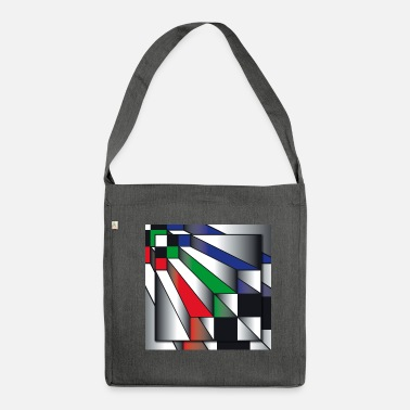 Op Art Stairs. on art - Shoulder Bag recycled