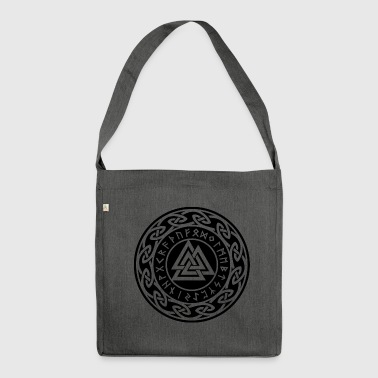 Valknut Vikings Odin Thor Runes icon sign - Shoulder Bag made from recycled material