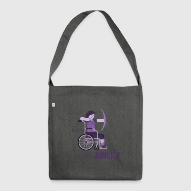 Wheelchair Disability Wheelchair - Shoulder Bag made from recycled material