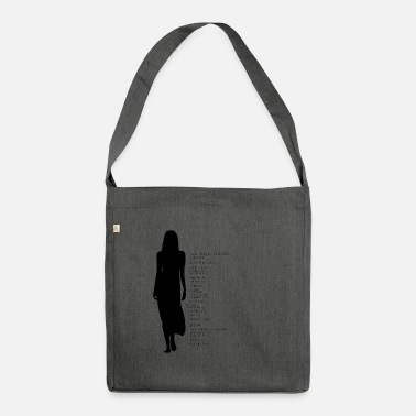 Silhouette silhouette - Shoulder Bag made from recycled material