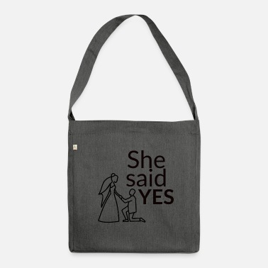 Celibenubile She said yes - Borsa in materiale riciclato