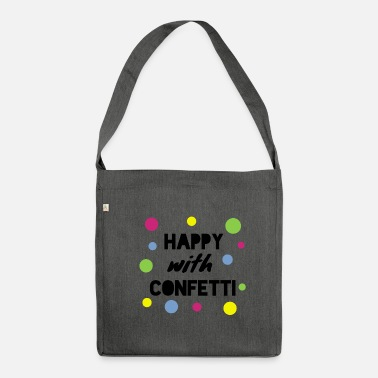 Confetti confetti - Shoulder Bag made from recycled material