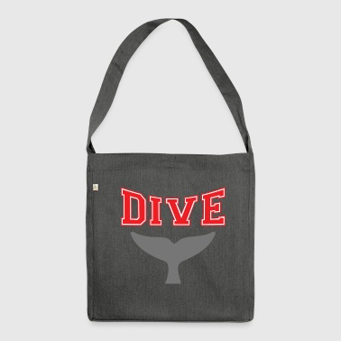 SCUBA DIVE WHALE DIVING - Shoulder Bag made from recycled material