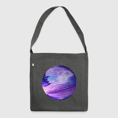 Blue planet cosmic galaxy by patjila - Shoulder Bag made from recycled material
