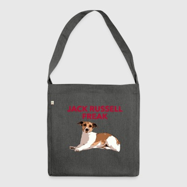 Jack Russel Freak red - Schultertasche aus Recycling-Material