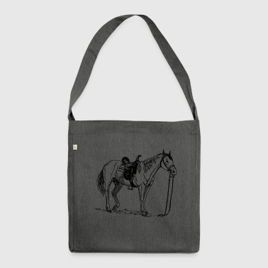 Horse, pony, mare, stallion, - Shoulder Bag made from recycled material