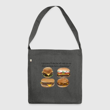 Cheeseburger memes - Shoulder Bag made from recycled material