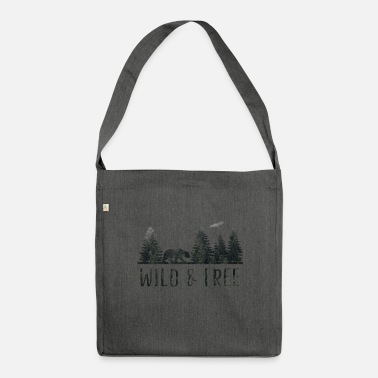 Wild WIld & Free - Schultertasche aus Recycling-Material