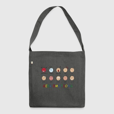 GEEK EMOTIONEN - Schultertasche aus Recycling-Material