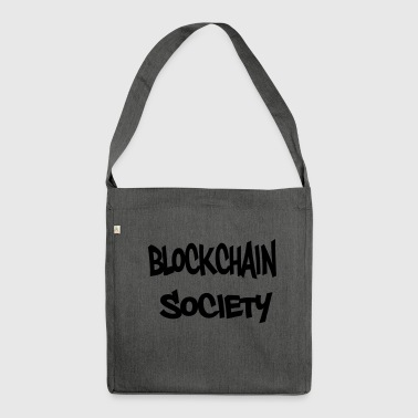 blockchain Society - Schultertasche aus Recycling-Material