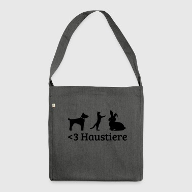 Haustiere - Schultertasche aus Recycling-Material