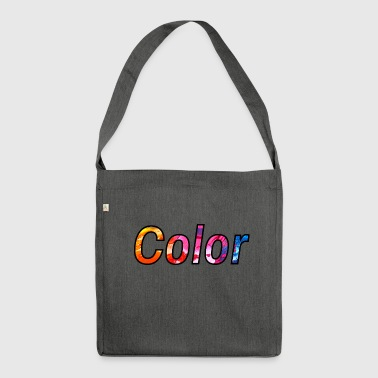 colour - Shoulder Bag made from recycled material