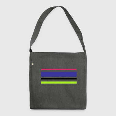 Strip strip - Shoulder Bag made from recycled material