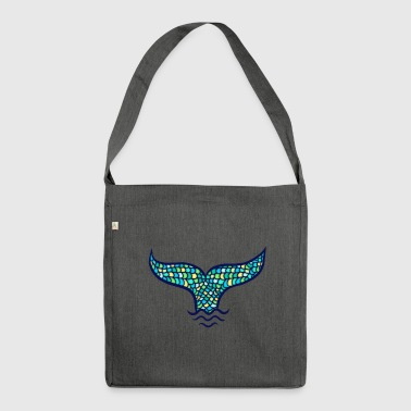 Mermaid fin whale fin, Mermaid - Shoulder Bag made from recycled material