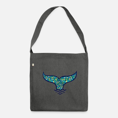 Fin Mermaid fin whale fin, Mermaid - Shoulder Bag recycled