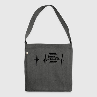 Streaker Racing car heartbeat - Shoulder Bag made from recycled material