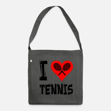 I Love Tennis I love Tennis <3 - Schultertasche aus Recycling-Material