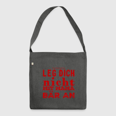 Mama Slogan - Schultertasche aus Recycling-Material