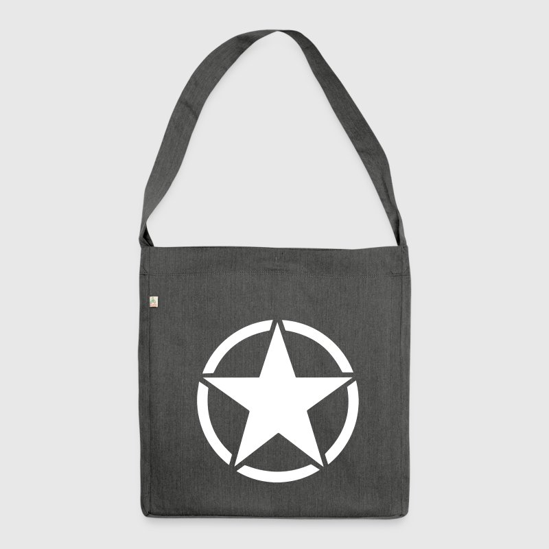 US Army Stern - Schultertasche aus Recycling-Material