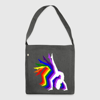 Rainbow Girl - Shoulder Bag made from recycled material