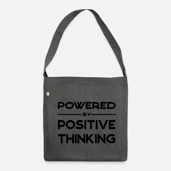Think Bags & Backpacks - Powered by positive thinking - Shoulder Bag recycled dark grey heather