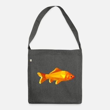 Goldfish polygon - Shoulder Bag made from recycled material