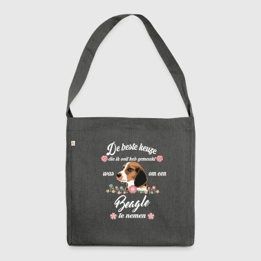 Beagle - Schultertasche aus Recycling-Material