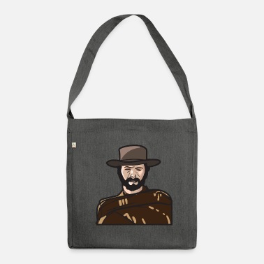 Strong American Man Cowboy in style as a tough and fearless man - Shoulder Bag recycled