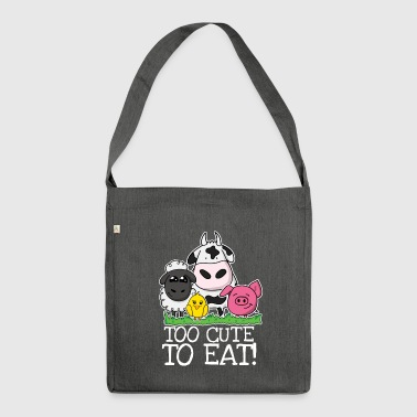 Too cute to eat - Schultertasche aus Recycling-Material