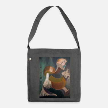 Furious Furious in orange - Shoulder Bag recycled