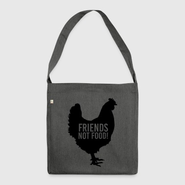 Friends not Food - Schultertasche aus Recycling-Material