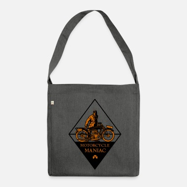 Tattoo Motorcycle Maniac - Schultertasche aus Recycling-Material