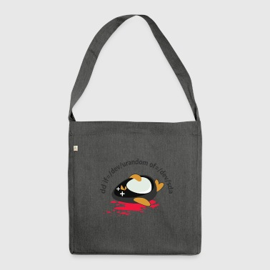 Linux Tod - Schultertasche aus Recycling-Material