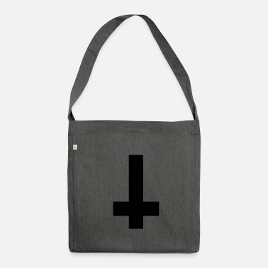 Satan Satanic cross - Shoulder Bag made from recycled material