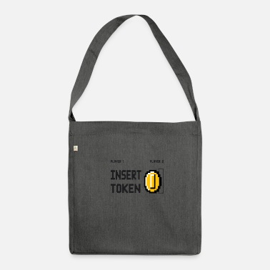 Token Insert Shoulder Bag Made From Recycled Material