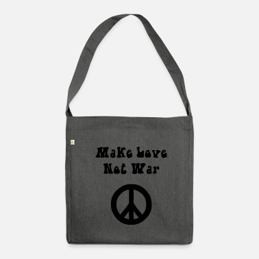 Make Love Not War Make Love Not War nero - Borsa in materiale riciclato