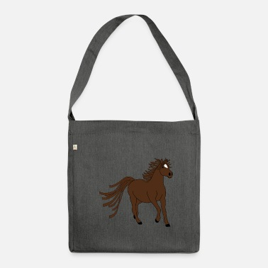 Horse Fan Dark brown horse - great motive for horse fans - Shoulder Bag recycled