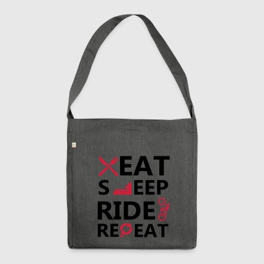 Eat sleep ride - Shoulder Bag made from recycled material