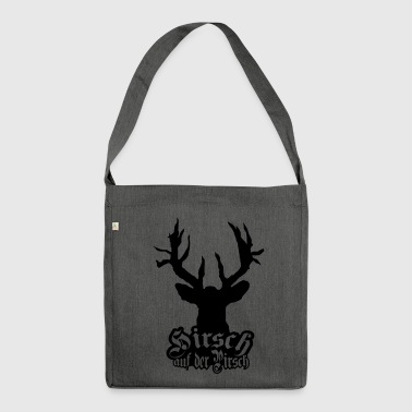 Deer on the stalking cult - Shoulder Bag made from recycled material