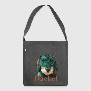 dackel - Schultertasche aus Recycling-Material