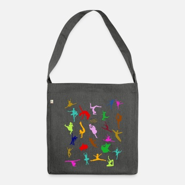 Modern COLORFUL SILHOUETTES - Shoulder Bag made from recycled material