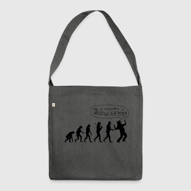 Werewolf Parody of Halloween - Shoulder Bag made from recycled material