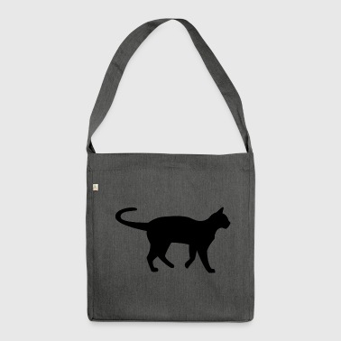 Katze schwarz - Shoulder Bag made from recycled material
