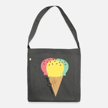 Ice Cream Ice cream | Ice Cream - Shoulder Bag made from recycled material