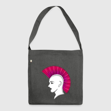 Punk Punk punk Iroquois Iro drawing gift - Shoulder Bag made from recycled material