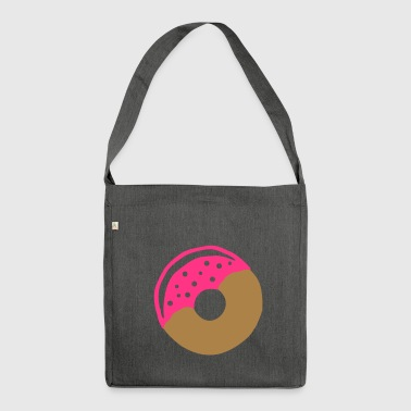 Donut with frosting - Shoulder Bag made from recycled material